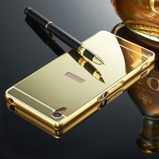Marco Metalico Aluminio Espejado Sony Xperia Xa Dorado