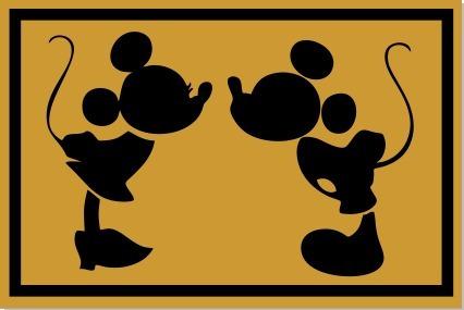 Tapete Capacho Casal Mickey E Minie Decoração 60x40