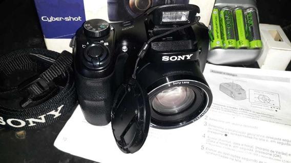 Câmera Sony Dsc-h100 21x