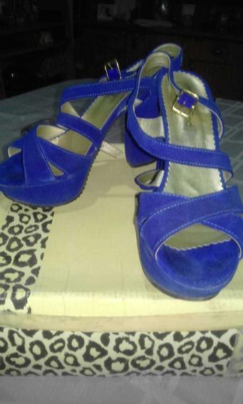 Zapatos De Fiestas Color Azul N37