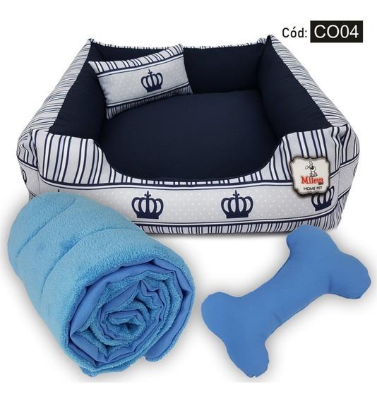 Kit Cama + Coberdrom Pet Soft Caminha Cachorro Gato 60x60