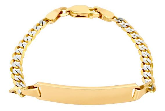 Esclava Bizzarro De Oro Amarillo Con Diamantado Platinado 12