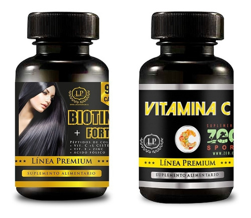 Biotina Péptidos De Colág. Vit C E Zinc Á Fólico L Cisteína