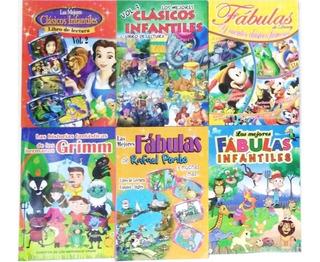 Los Mejores Cuentos Clásicos Y Fabulas Infantiles X 3 Libros