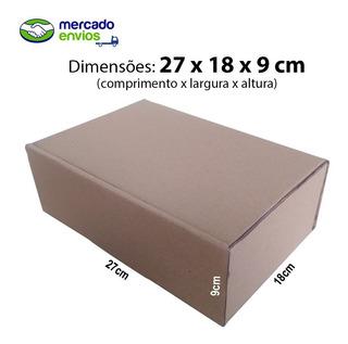 100 Caixas De Papelão 27x18x9 Correios Mercado Envios Me