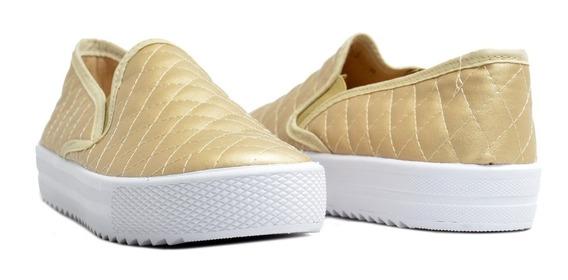 Zapato Calzado Color Oro Mujer | Erez
