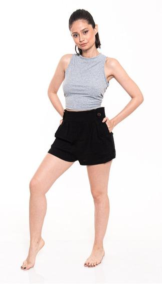 Short De Vestir Mujer Lino Con Bolsillos Outside Tokyo 80012