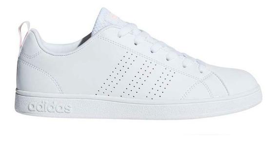 Tenis adidas Advantage Clean Blanco/rosa Originales Db0581
