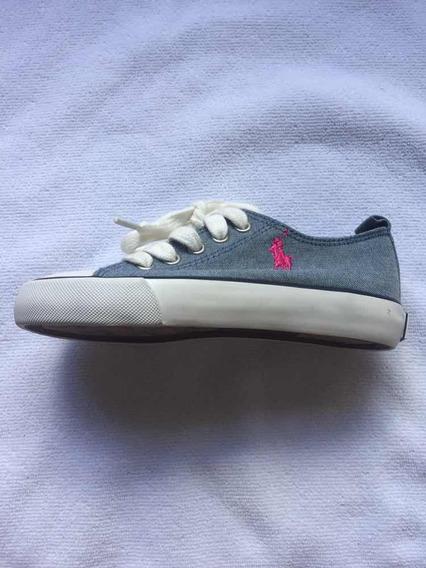Zapatillas Polo Ralph Lauren Niña - Talle Usa 11. Sin Uso!