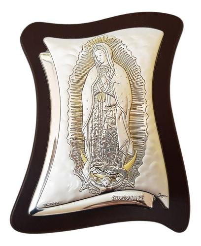 Retablo Plata Y Oro Virgen De Guadalupe -  10 Pzs