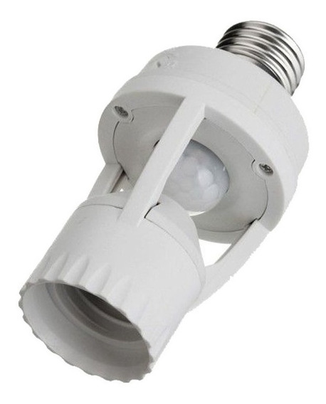 Sensor Presença Com Fotocélula P/ Lâmpada Timer Soquete E27