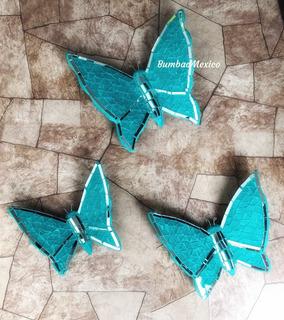 Mariposas Decorativas Adorno Para Pared Mariposa Turquesa