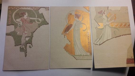 Tarjetas Postales Francesas Musiqee Peinture.consuktar Stock