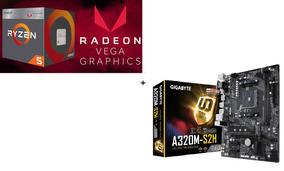 Processador Ryzen 5 2400g + Placa Mae Gigabyte Ga-a320m-s2h