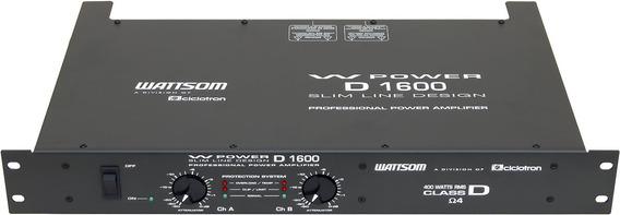 Amplificador Potencia Wattsom 400 Wrms Wpower D 1600 4 Ohms