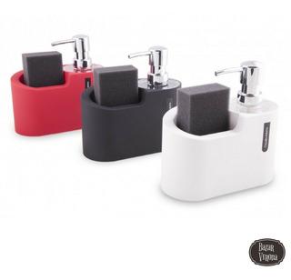 Dispenser De Jabón Liquido Para Cocina Con Porta Esponja