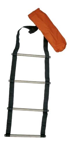 Escalera Náutica Enrollable Escalones Acero Inox Plegable