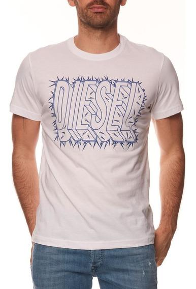 Diesel Playera Blanca Jeans