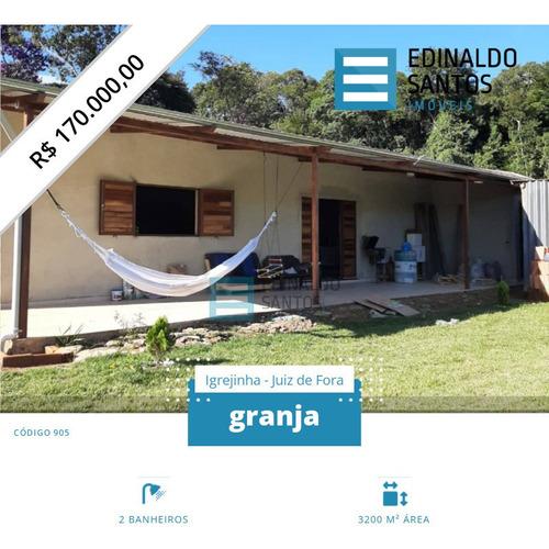 Imagem 1 de 15 de Edinaldo Santos - Ribeirão Do Carmo, Granja De 3.200m2 Ref 905 - 905