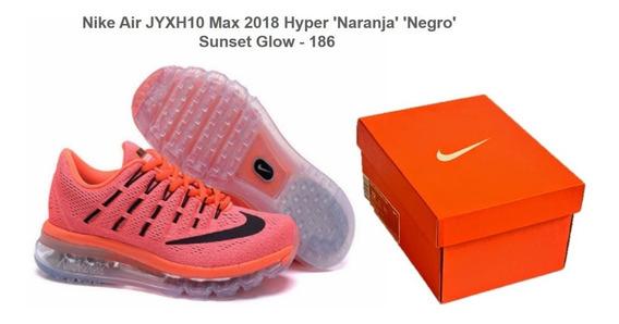 Nike Air Max 2018 Hyper Naranja Negro Sunset Glow 380 Soles