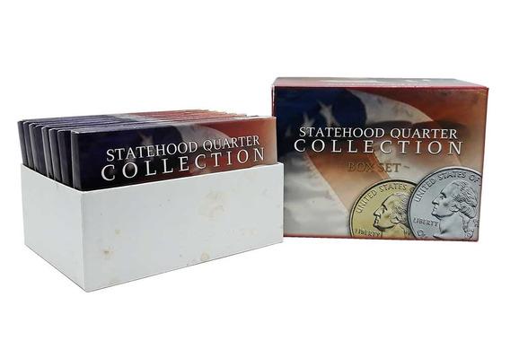 Box Set Quarter Dollar 40 Moedas Letra P 1999 - 2006 Estados