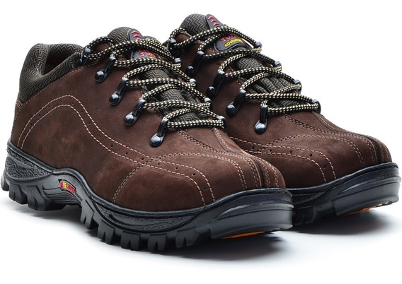 Tenis Masculino Bota Adventure Couro Legitimo Freejump 4301