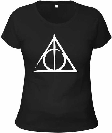 Baby Look Camiseta Harry Potter - Relíquias Da Morte