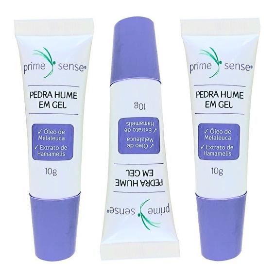 Kit Pedra Hume Em Gel Prime Sense 10gr - 3 Unid Adstringente