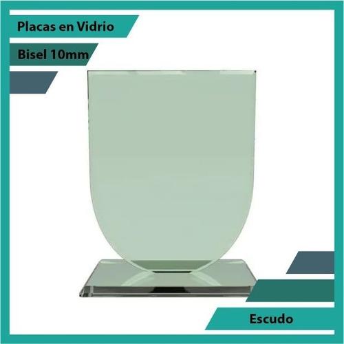 Placas En Vidrio Forma Escudo