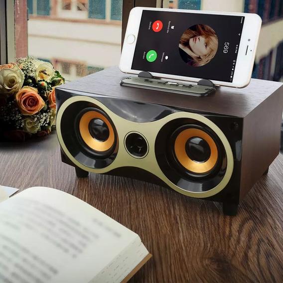 Caixa Som De Mesa Casa Via Bluetooth Usb Mp3 Radio Fm Aux