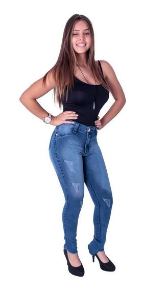 Calça Azul Feminino De Jeans Lavado Bbe 2095