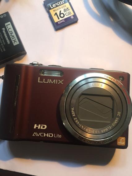 Camara Lumix Panasonix C Zoom 12x Gps + Cartão 16gb