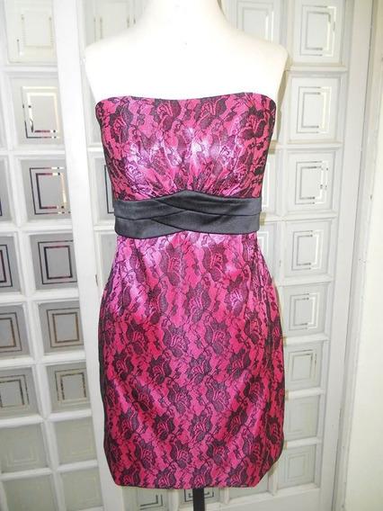 Vestido Feminino Festa Curto Jacard Azul Royal Pink P M