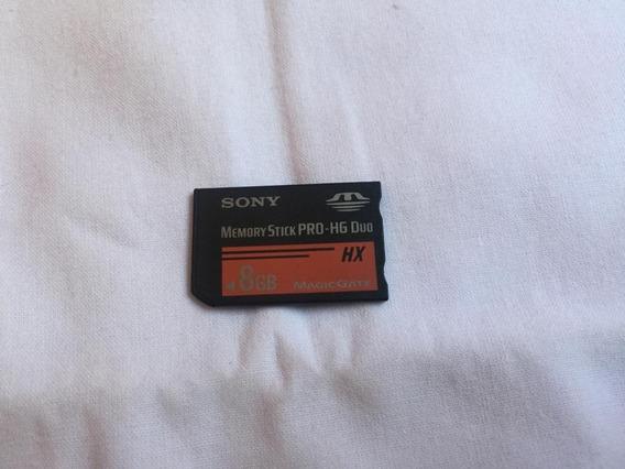 Cartão De Memória Memory Stick 8gb Sony - Para Câmera Ou Psp
