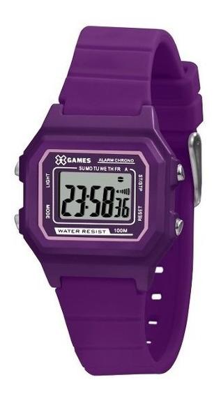 Relógio Infantil Feminino Roxo X Games Digital Silicone