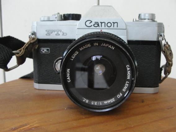 Camera Reflex Canon Ftb Antiga Lente 35mm