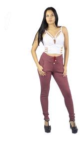 Calça Ribana Feminina Tipo Moletom Cintura Alta Moda Insta