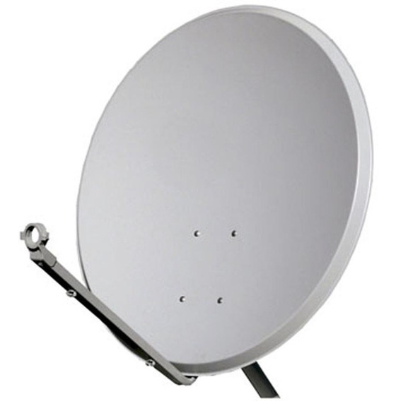 Kit 2 Antenas 60cm Ku 2 Lnb Simples Universal 50m Cabo Rg59