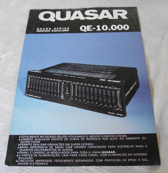 Equalizador Quasar Qe 10.000 Folder