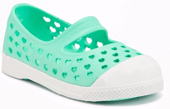 Zapato De Plastico Old Navy, Niña #442887-02 Verde