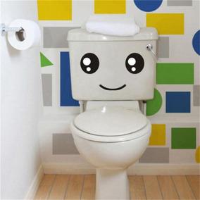 Adesivo De Banheiro Carinha Sorisso Feliz Vaso Sanitario