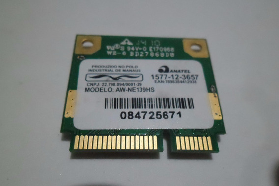 Placa Wi-fi Notebook Positivo Stilo Xr2998 /3000 /3050