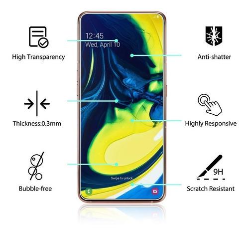 Protector Pantalla Samsung A80 Vidrio Templado Tienda Fisica