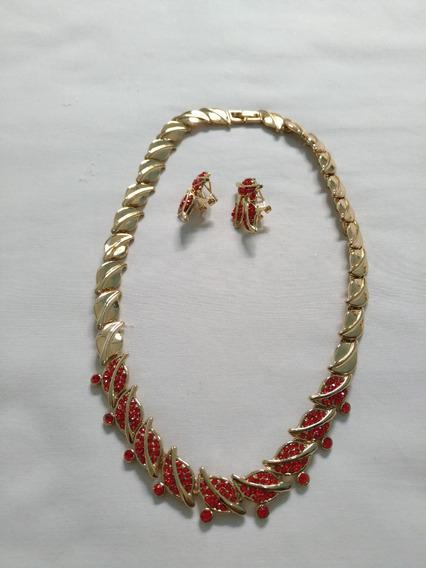 Conjunto Colar E Brinco (bijuteria Fina) N.1