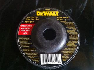 Disco Dewalt 4 1/2 Corte Normal