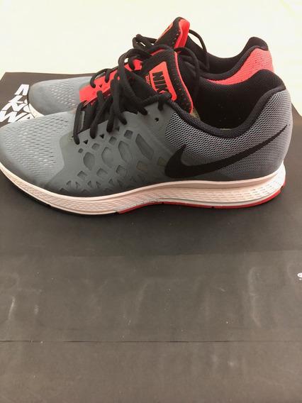 Tenis Nike Cinza E Vermelho