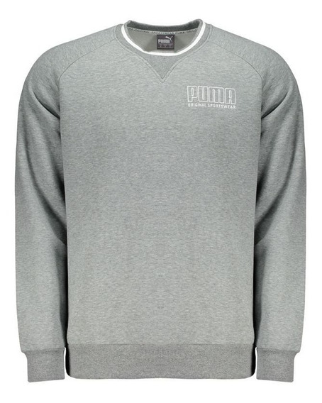 Moletom Puma Athletics Crew Cinza