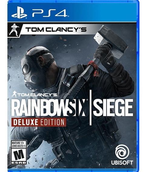 Rainbow Six Siege Ps4 Edição Deluxe Mídia Física Novo