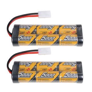 2 Paquetes De Batería Rc Nimh, 7,2v, 5000mah, Para Auto