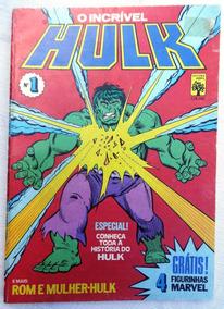 O Incrível Hulk Nº 1: Inclui As Figurinhas - Ed.abril - 1983